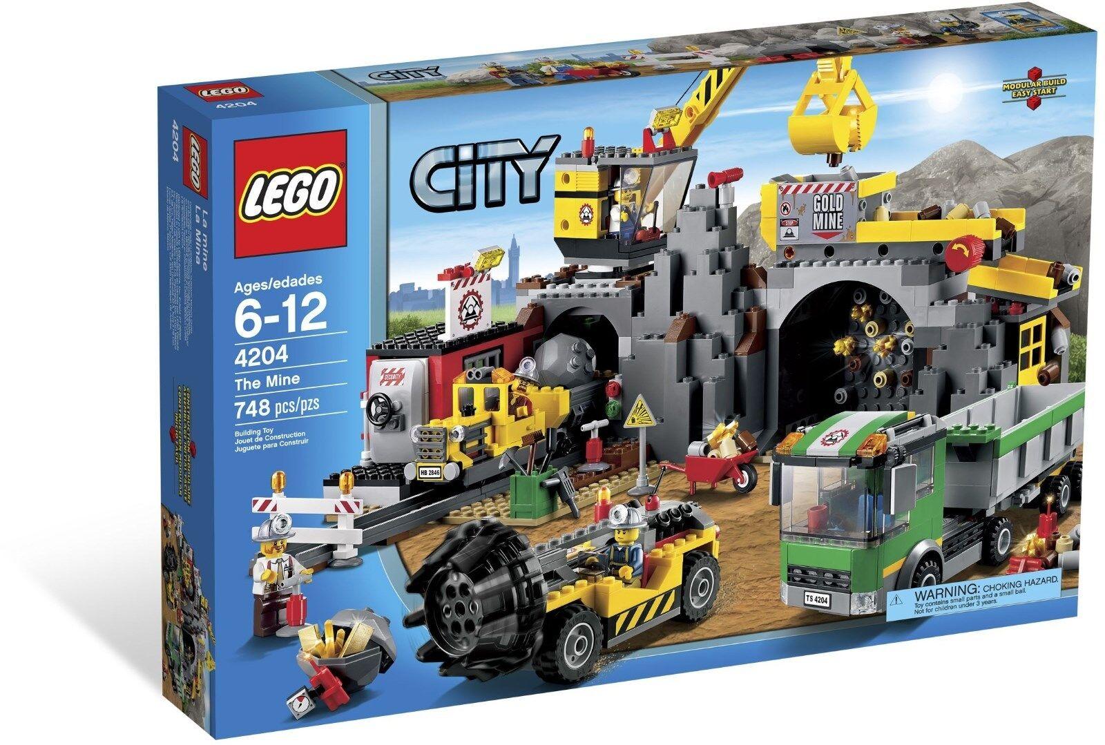 NYA LEGO 4204 Staden Mine Factory SET REPREIröd