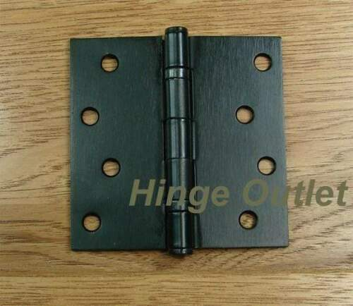 """Sold in Pa Oil Rubbed Bronze finish 4/"""" x 4/"""" Ball Bearing Square Corner Hinge"""