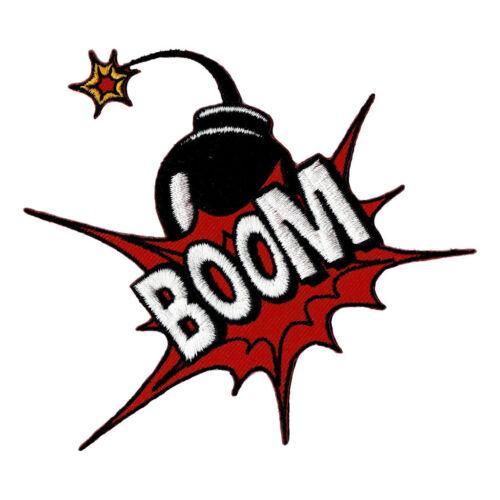 Ab81-boom Patch perchas imagen Patch cómic globo súper héroe de 10,5 x 9,5 cm