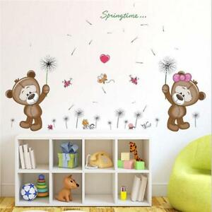 Details About Removable Wall Decal Nursery Stickers Kids Baby Room Diy Home Decor Bears New S
