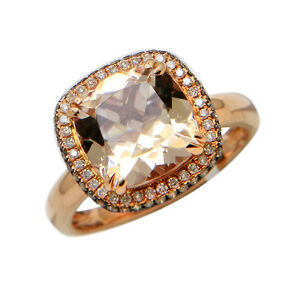 halo amazon ring diamond cut com size dp pink gold morganite rose rings natural cushion engagement