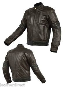 X-Herren-Klasse-A-Leder-Mode-Motorrad-Jacke-Motorrad-Ce-Schutz-Alle-Groessen