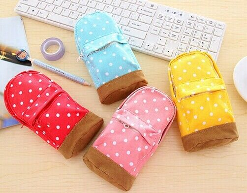New mini School bag Pen Case Student's Canvas Pencil Case Children Pen Bag   F22