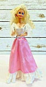 """MATTEL BARBIE Doll Blonde Hair Blue Eyes Two Piece Outfit 12"""" Tall Free Ship"""