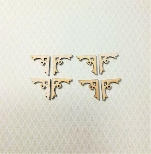 Dollhouse Miniature Wood Corbels or Brackets 1:12 Scale Set of 8 Loop Style