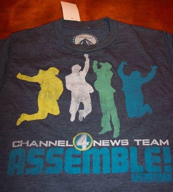 Anchorman Channel 4 News Team Assemble T-shirt XL