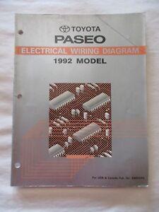 1992 TOYOTA PASEO ELECTRICAL WIRING DIAGRAM MANUAL | eBayeBay