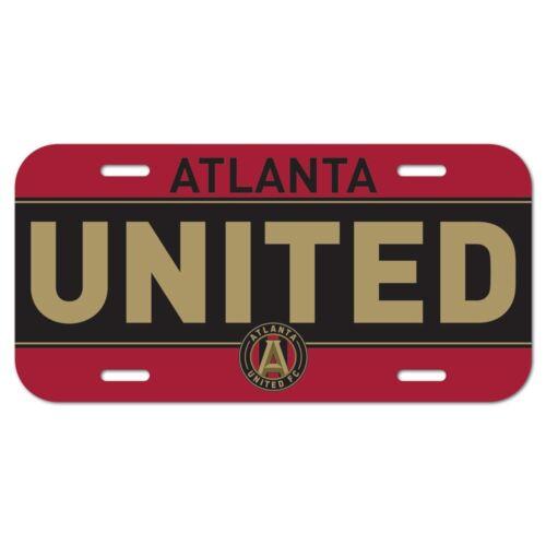 "ATLANTA UNITED FC 6/""x12/"" OFFICIAL LOGO LICENSE PLATE CAR BRAND NEW"