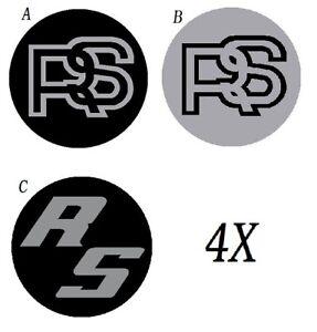 Details Zu Ford Rs Aufkleber Für Radnabenzierkappe Felgendeckel Escort Capri Wheel Sticker