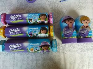 Chocolate-PLAYMOBIL-MILKA-2-collector-cards-2-boxes-boy-amp-girl-3-crackers
