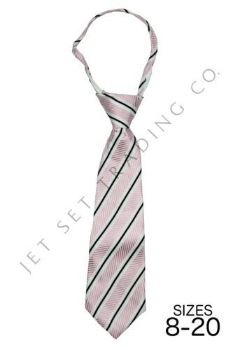 Boys Pink Dress Shirt with Matching Tie /& Hankie Long Sleeves Sizes 4 to 20