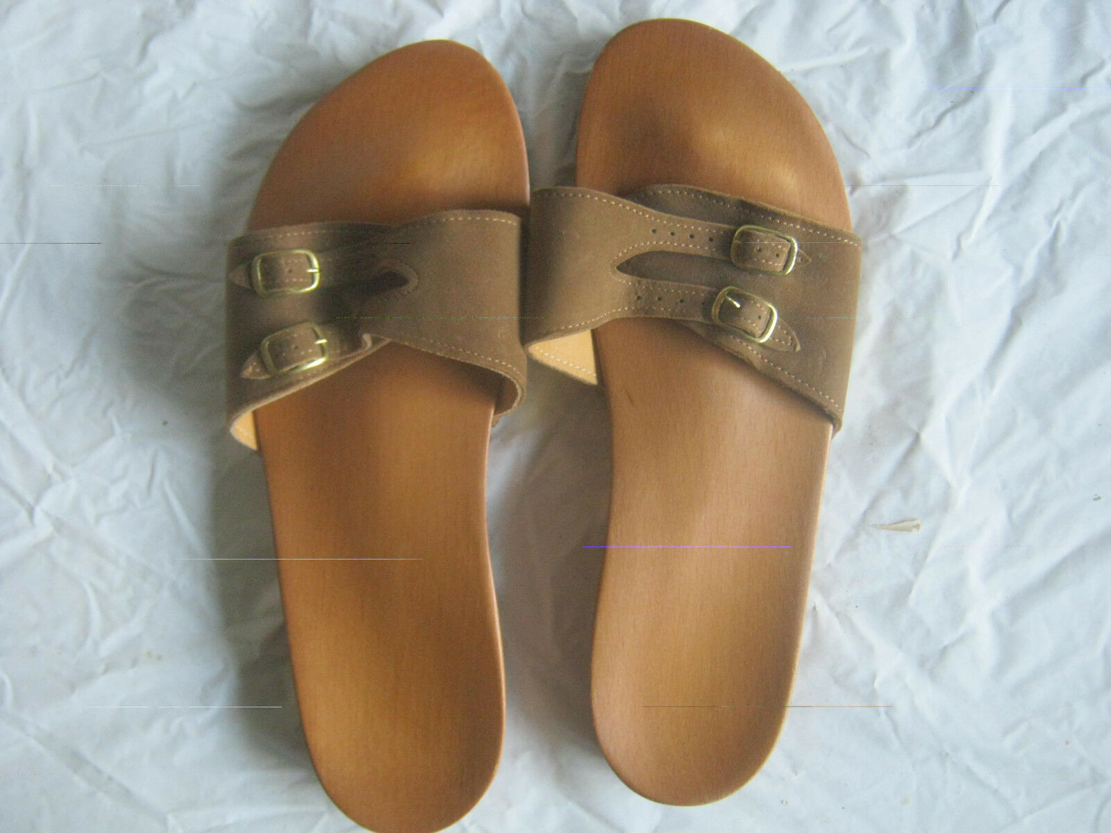Vintage Dr Scholl's Foot Exercizer Sandal Size 7 Brown
