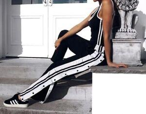 pantaloni bottoni laterali donna adidas