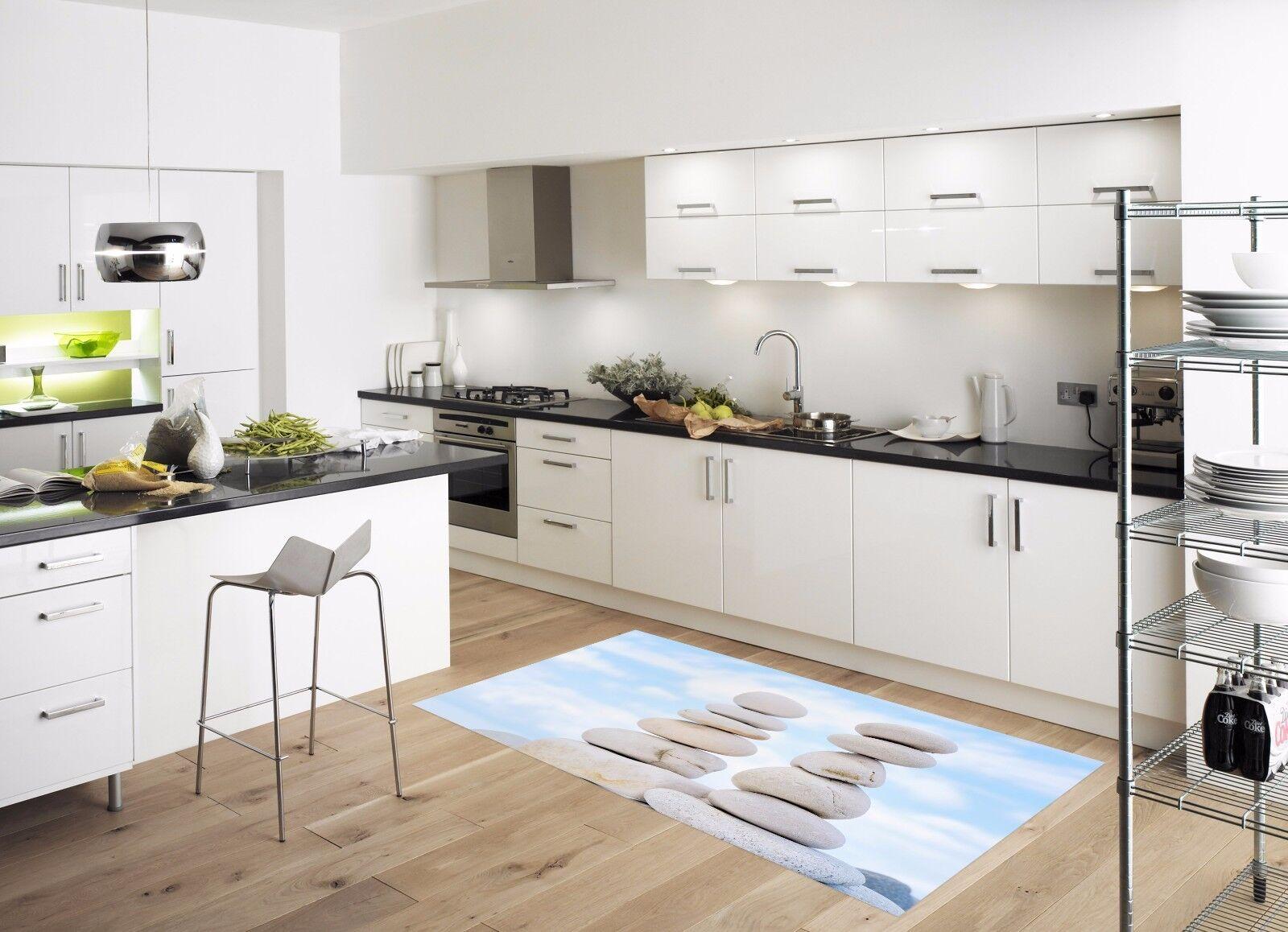 3D Sky Weiß Stone 884 Kitchen Mat Floor Murals Wall Print Wall Deco UK Carly