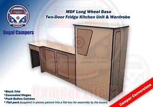 Details about LWB VW T5 T4 Camper Van Conversion LIGHTWEIGHT MDF Fridge  Kitchen Unit Pod DIY
