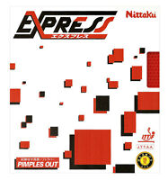 Nittaku Express Table Tennis Rubber / Black Red (1.3mm 2.0mm) Pimples Out