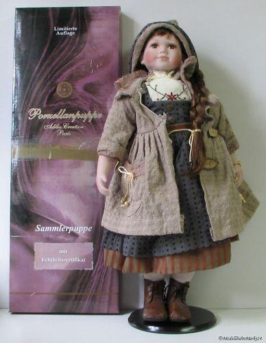 Muñeca de porcelana adelie creation parís edición limitada