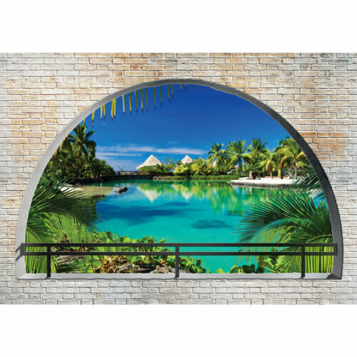 Papier peint Paradis Palmiers Eau Vacances mur Liwwing No 2458