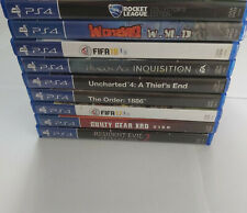 x9 Sony PlayStation 4, PS4 Games Disc Lightly Scratched Boxed Bundle UNTESTED