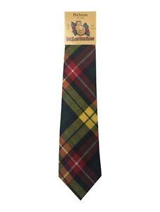 ties Cravatta uomo verde Nuova 100% seta tartan fantasia verde scozzese