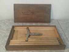 Vintage Brown Amp Sharpe No 607 0 6 Depth Micrometer Gage In Original Box