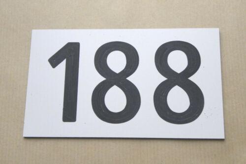 plaque gravée numéro porte appartement 120x70 MM