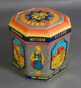 Details about Bauhaus German Haeberlein-Metzger Gingerbread Cookie Tin Can  Box ~Famous Artists