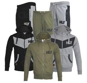 cf794f7167cf Image is loading Mens-Jogging-Suit-Set-Tracksuit-Hooded-Texture-Bottoms-