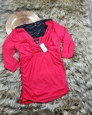 nwt women's Torrid red 3/4 sleeve blouse top size 00 size 10