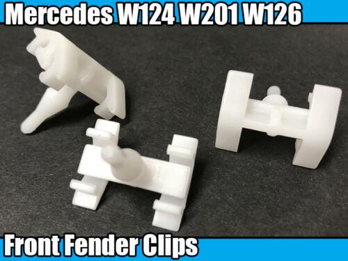 10x Aile Avant Passage De Roue Fixation TRIM CLIPS pour Mercedes W124 W201 W126