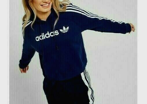 ed0b4f9a0a Med. adidas Originals Women's Slim Hoodie Track Jacket Uk12 - US 8 Black  1avl