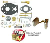 Complete Carburetor Kit & Float Massey Ferguson Te20 To20 Marvel Carb Tsx361a