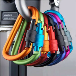1pcs-Aluminum-Alloy-Carabiner-D-Ring-Key-Chain-Keychain-Clip-Hook-Buckle-Outdoor