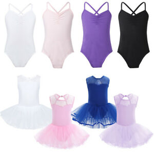 Girls Ballet Leotard Dance Dress Kids Gymnastics Tutu Skirt Costumes ... 89348933e19c