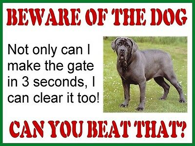 Funny RETRO METAL PLAQUE :BEWARE OF THE DOG sign/ad
