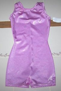 Nwt-New-Alpha-Factor-Biketard-Unitard-Leotard-Hologram-Holo-Pink-Cute-Nice-Girl