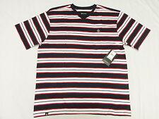 $28 NWT NEW Mens Akademiks T-Shirt Alden Striped V-Neck Tee Size 4XL 4XB 4X N127