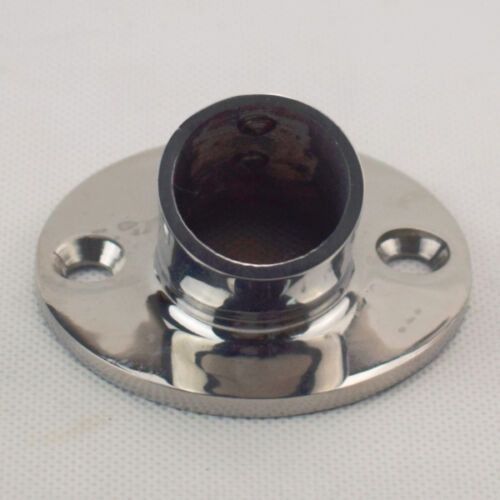 """1PC Boat Marine Stainless Steel 316 Hand Rail Fittings 60 Degree 1/"""" Round Base"""
