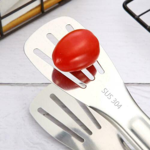 12 Steel BBQ Tongs Meat Food Clip Vegetable Clip Cake Handle G5A2