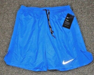 """Nike S Men/'s 7/"""" Distance Printed Dri Fit Running Shorts w Brief NEW 717966 435"""