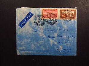 Cover-Maroc-Casablanca-Postes-Par-Avion-to-Danemark-1937-with-handwritten-letter