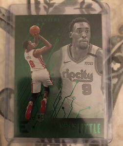 2019-20-Panini-Chronicles-Green-Essentials-NASSIR-LITTLE-222-RC-Rookie-Blazers