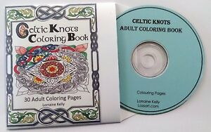 Image Is Loading Celtic Knots PDF Adult Coloring Book 30 Pages