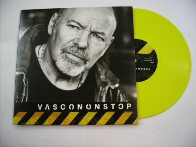 """VASCO ROSSI - VASCONONSTOP EP - 10"""" YELLOW VINYL NUMBERED NEW 2017 - COPY # 2740"""