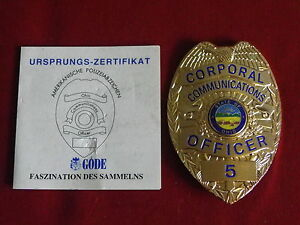 Details Zu Usa Polizei Orden Von Gode Ohio Corporal Communications Officer 5