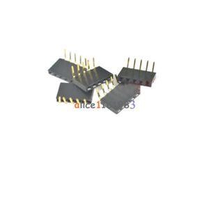 20PCS-2-54mm-Pitch-1x5Pin-Header-Right-Angle-Female-Single-Row-Socket-Connector