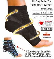 2 x Foot Anti Fatigue Compression Sleeve Relieve Swelling Varicosity Socks-1pair