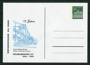 Bund-Privat-GA-Karte-Brandenburger-Tor-20-Pfg-Kaiser-Wilhelm-Bruecke-Ganzsache