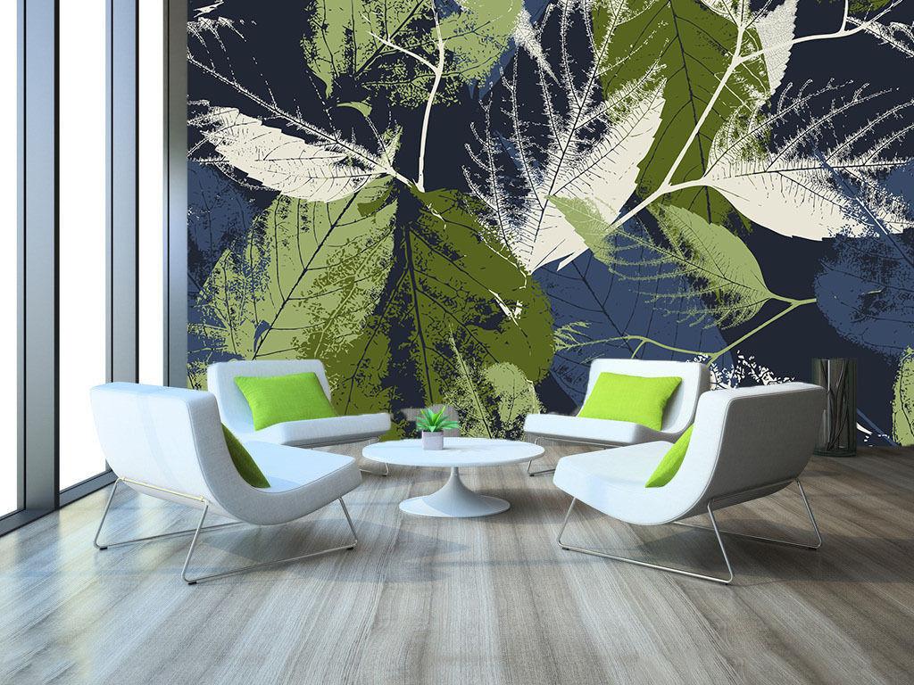 3D Leaves Imprints 853 Wall Paper Wall Print Decal Wall Deco Wall Indoor Murals