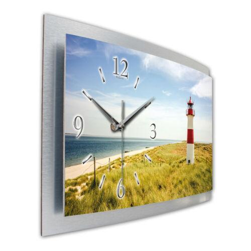 Phare 3d Designer Horloge Radio Horloge radiopilotée en aluminium Silencieux créatifs ressort